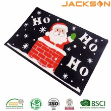 Woven knitted polyester christmas door floor polyester mat