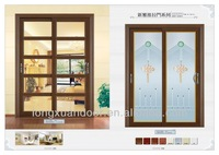 Perfect design interior frosted glass doors