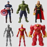 2016 high quality plastic superhero ironman captain america hunk Thor action figure, wholesale toys figure