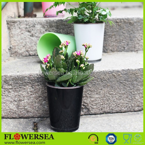 Flowersea wholesale handmade colorful cheap glass flower pots