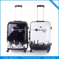 2014 fashion school bags plastic cover super light luggage