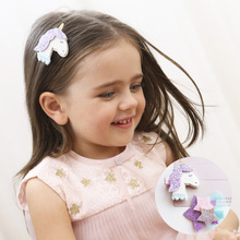 QFS169 The unicorn clips flash powder hairpin princess lovely hair accessory