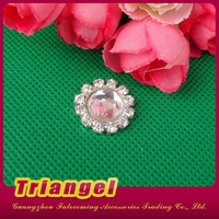 Flat Back Small Round Rhinestone Brooch For Wedding Invitations
