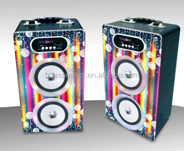 HI-FI Speaker System Pro Audio High Power With USB/SD/FM/MP3/Remote Wooden Speaker Audio Equipment