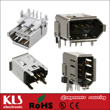 Good quality IEEE 1394 connector plug 6P UL CE ROHS 107 KLS brand