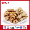 Smoked rawhide knotted bone dog chews dog treats pet food factory