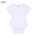 SOP baby clothes plain white baby rompers manufacturer