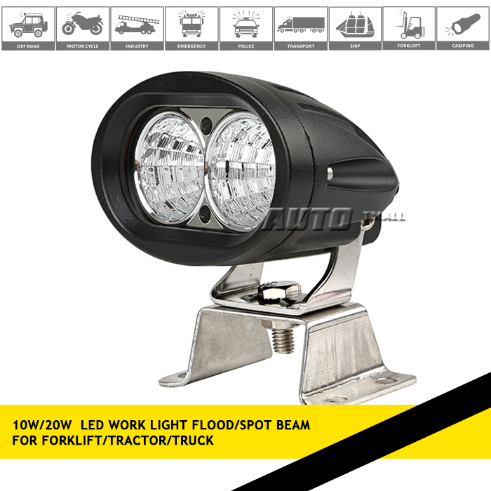 20w working lamp oval led forklift light Crees led work light