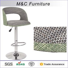 2016 new model rattan weave bar stool high chair