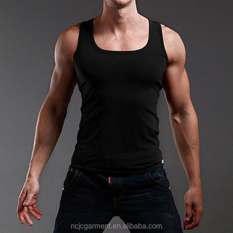 New Mens Tank Top 100% Cotton A-Shirt Wife Beater Ribbed Undershirt