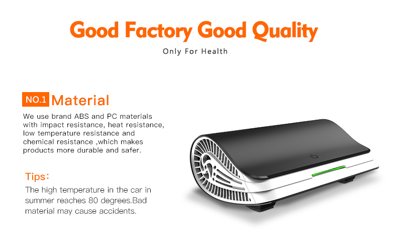 Customized True HEPA Filter Air Purifier for Car and Home