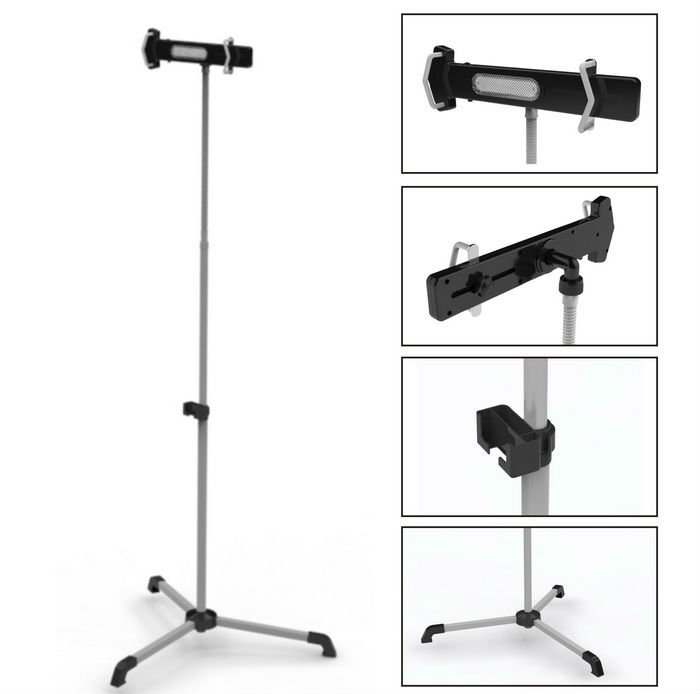 "FS01 gooseneck universal 8-10"" Tablet PC clip stand for ipad"