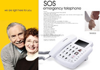 Security device for senior big button sos emergency telephone with remote monitor funtion deskphone corded telephone