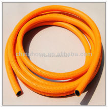 Orange PVC LPG Gas Pipe Hose, Plastic PVC propane Gas Pipe,Gas Cooking Grill Connection Hose