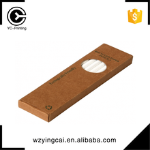 Bottom price brown kraft pencil customized handmade cardboard tube 24pcs packaging boxes
