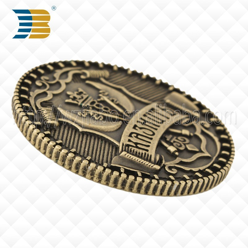 make your own design hot sells High quality with Customized metal antique silver souvenir zinc alloy coin