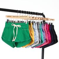 DK20 Terry Cotton Elastic Waist Sport Shorts for Women