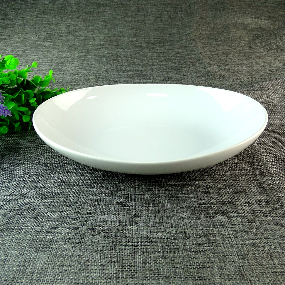 9 Inch Cheap Stock China Plate Hotel&Restaurant Round Porcelain Plates Closeout Inventory Wholesale
