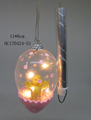 Clear glass Easter egg with LED string light decoration