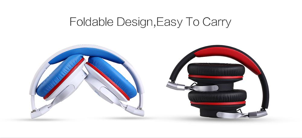 2017 sport stereo wireless bluetooth headset, wireless bluetooth headphone with hifi microphone and foldable design with wire