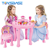 Yiwu Toys Factory | Kids Educational 2 In 1 Tableware And Accessories Round Table Beauty Set Toys