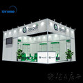 Custom universal big booth trade show stand used into resuable several small exhibition stand