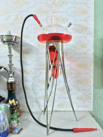 Wholesale cheap all glass hookah,factory hand blown glass hookah
