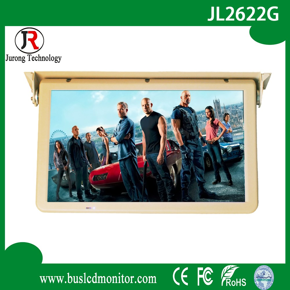 High-Definition DC 12V/24V car 22 inch 1080p lcd motorized monitor