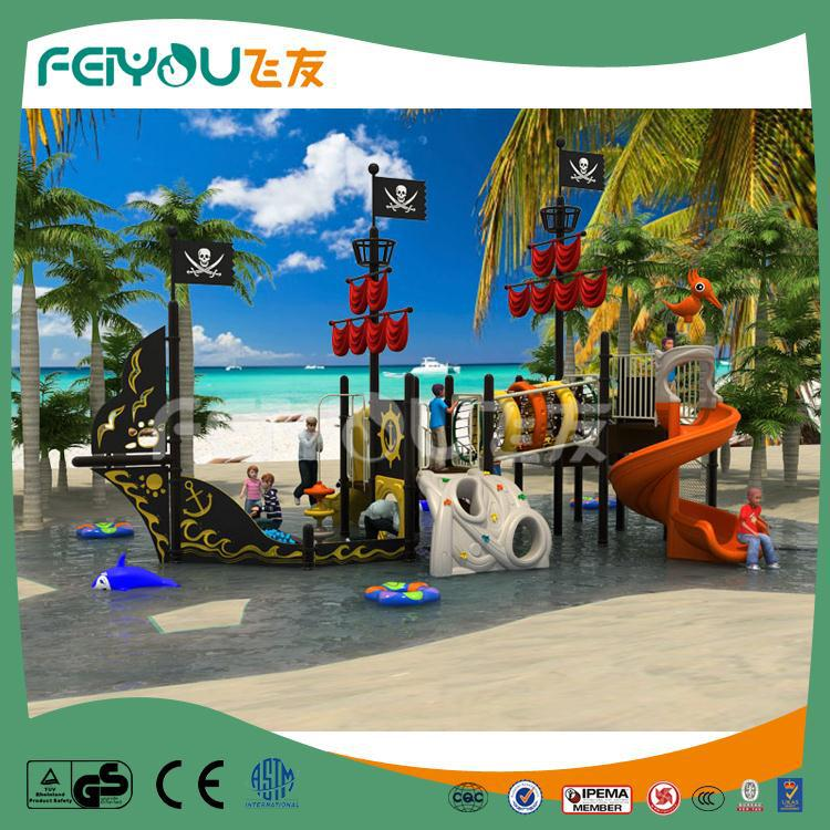 Kids PE Pirate Playground Plastic Slide Amusement Park <strong>Equipment</strong> For Sale