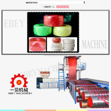 extruder used to produce nylon plastic pe pp flat split tear film making machine for rope and net