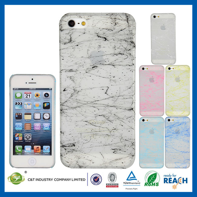 C&T Crystal clear sublimation cell phone case for iphone5s