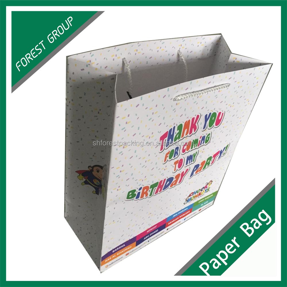 CUSTOM PRINTED PAPER SHOPPING PAPER GIFT BAG