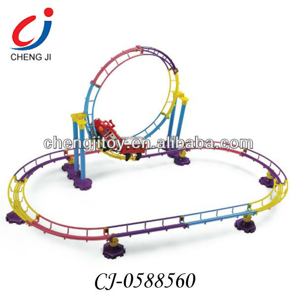 kids colorful and enjoyful electric diy slot car track roller coaster toy