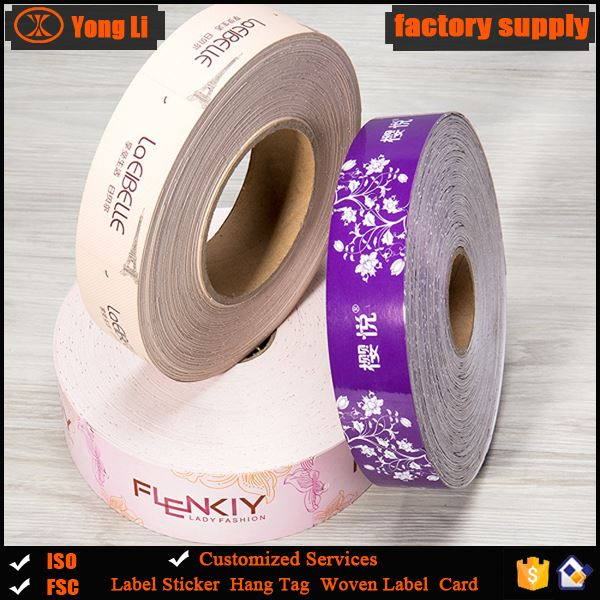 Guangzhou wholesale clothing paper label &tag for garment