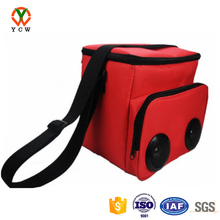 Factory cooler bag for frozen food insulated reusable flexible packs for food with speaker round