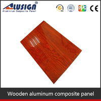 2015 cheapest interior wall aluminum composite panels wood facade cladding