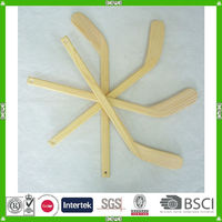 promotional gift various quality wood player hockey stick plant with customized logo
