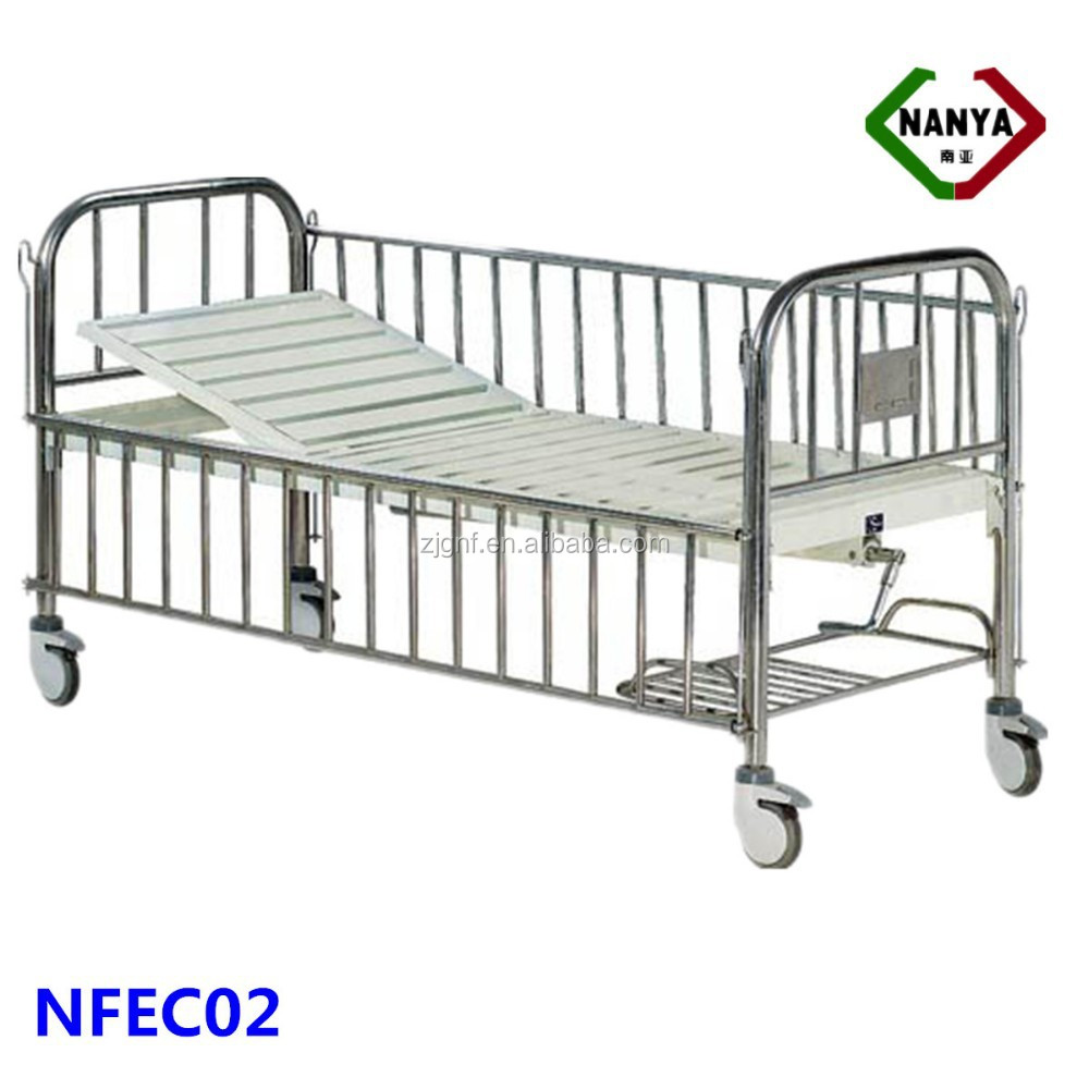 Single-crank baby cots, model iron railings