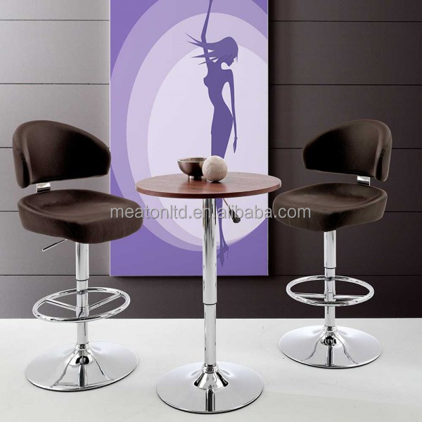 Deluxe Casino Bar stool With Hight Back Comfortable Funky Design / High Quality PU And Metal Bar Stool CL - 7023