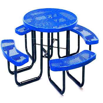 outdoor furniture metal Dining Table Cafeteria Dining Desk Chairs set