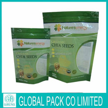 Custom Plastic Packaging bag for Seed Packaging/Biodegradable Stand up pouch