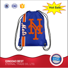 LOGO design fashional sports folded cotton drawstring backpack bag