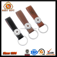Factory price custom embossed leather keychains