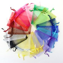 Wholesale rainbow organza fabric gift bag