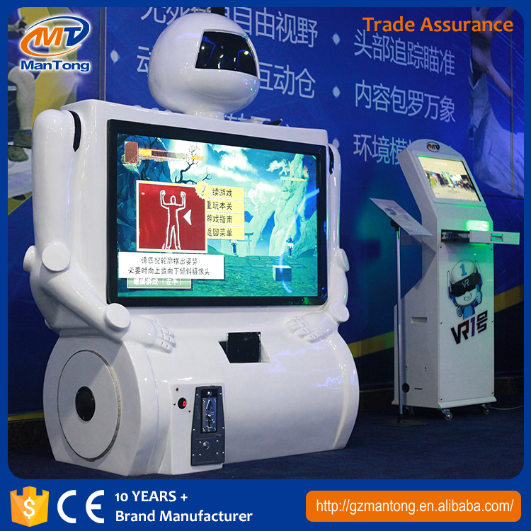 2017 most Attractive Somatosensory Games Machine Indoor Amusement fighting Kung-fu vr simulator equipment