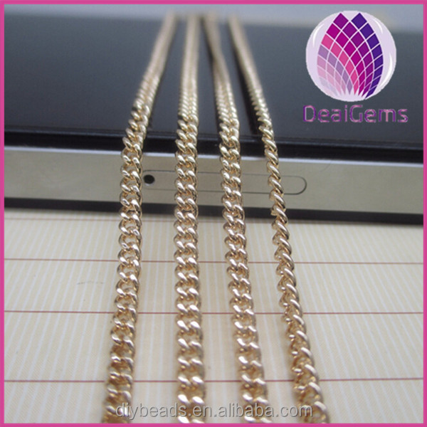 High quality 24k gold filled chain <strong>necklace</strong> 2.2*2.6mm snake gold chain <strong>necklace</strong> for jewelry making