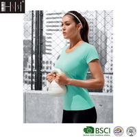 Huinongsi brand wholesale seamless sportswear ladies workout tshirt women fitness clothing gym t shirt