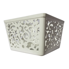 Hight quality cheap sundries storage baskets with handle sundries plastic decorative storage boxes