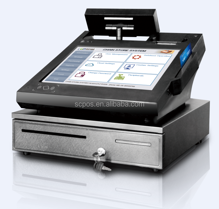 15 inch touch screen POS machine/POS hardware/POS terminal