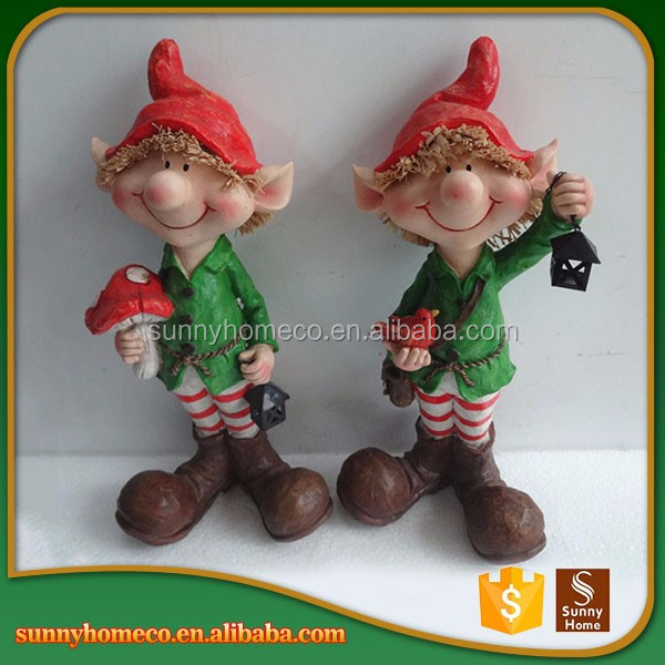 Handmade Craft Decorative Resin Baby Christmas Statues Wholesale